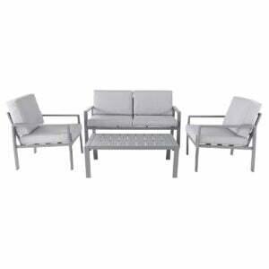 Set mobilier gradina Aeroom, masa cafea, canapea si 2 fotolii
