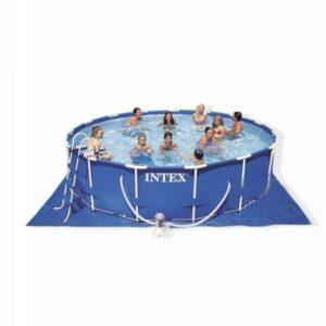 Covor pentru piscine, vinyl, 472 x 472 cm