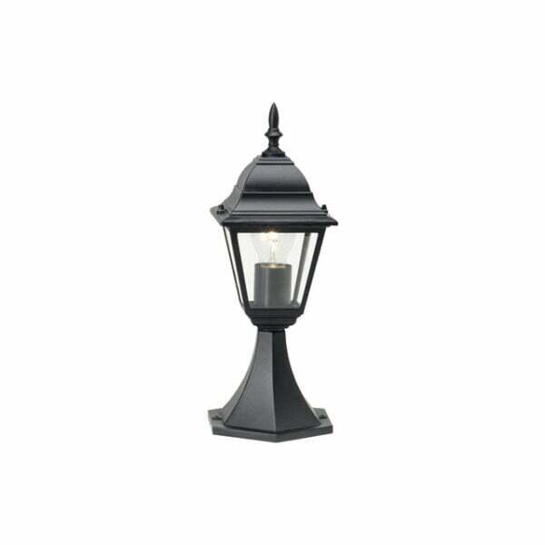 Felinar cu picior E27 max. 1x60W, 36,5 cm, pentru exterior IP44, negru
