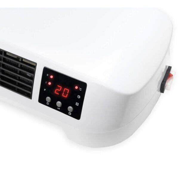 Aeroterma ceramica Eurom, 2000 W, 2 trepte de putere, termostat, protectie supraincalzire, telecomanda